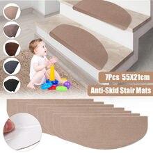 Tapis d'escalier auto-adhésif en PVC, 5 couleurs, antidérapant, coupe libre, tapis de sécurité, MatHome, nouveau, 55x21cm, 7 pièces