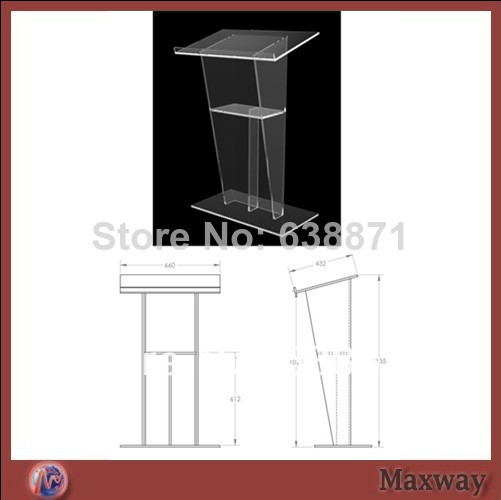 Free Shiping Factory Sale Acrylic Church Podium;Glass Podium Design;Modern Acrylic Lectern