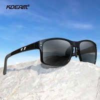 KDEAM TR90 Material Polarized Sunglasses Men Sports Rectangle Frame Sun Glasses Driving Female oculos de sol XL Size KD524