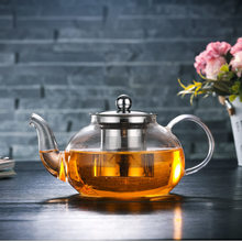 400-1200ML Clear Heat Resistant Clear Glass Teapot Jug W Infuser Coffee Tea Leaf Herbal Pot Flower Teapot Milk Juice Container(China)