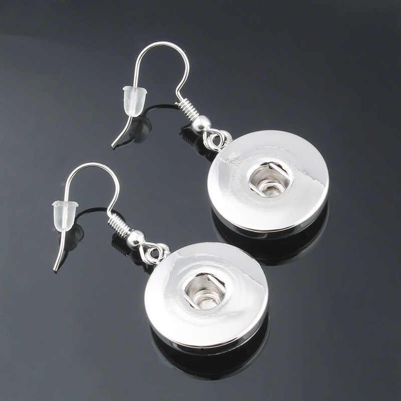 Silver Snap เครื่องประดับโลหะ Snap ต่างหูพอดี 18mm Snap Drop ต่างหูสำหรับนาฬิกาผู้หญิง Bohemian ปุ่มเครื่องประดับ