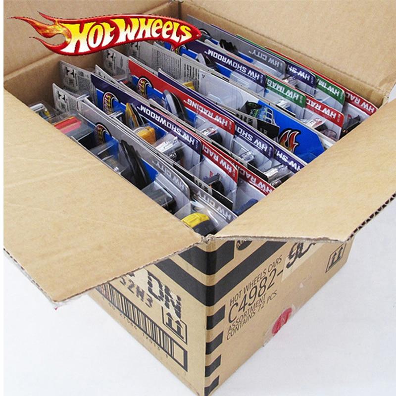 5pcs-72pcs/box Hot Wheels Car Model Toys For Children Diecast Metal Plastic Hotwheels Brinquedo Hot Kids Toys For Boys Truck Set
