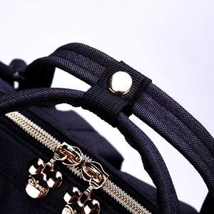 Image 5 - Disney sevimli Minnie Mickey kırmızı bebek bezi çantası su geçirmez bebek bakımı mumya çanta analık sırt çantası büyük Nappy çantası annelik çantası