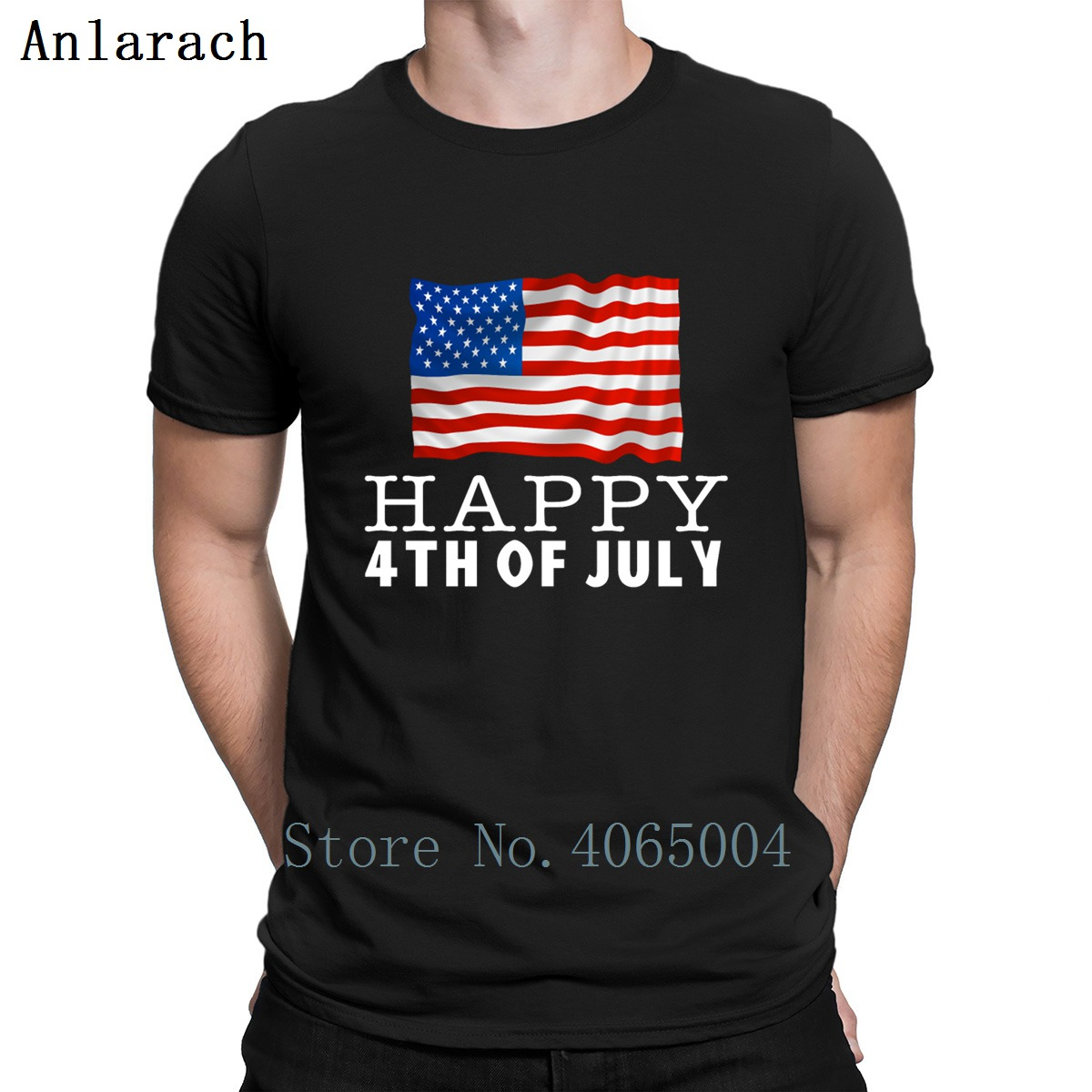 Happy Fourth Of 4 July T Shirt Letter O Neck Loose Personalized Spring Short Sleeve Humor Cool Shirt