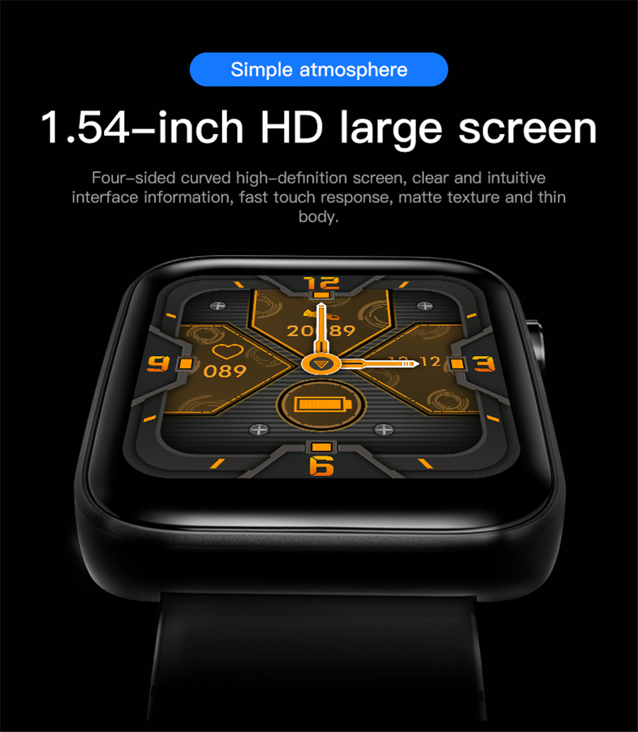 H2d0ec1de86b84c8cad47eb26c5535ae6A T68 Men Women Smart Watch with Body Temperature Measure Sports Fitness Watch Heart Rate Blood Pressure Oxygen Monitor Smartwatch