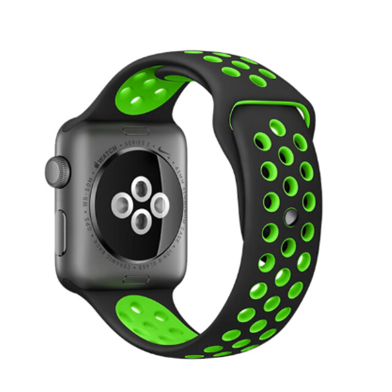 Band For Apple Watch 4 3/2/1 30 Color38MM 40MM Silicone Breathable For IWatch Replacement Band Sport Loop Series 4 42mm 44mm