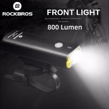 Cycling Flashlight Bike-Accessories Bicycle-Lamp ROCKBROS 800lumen Rechargeable Waterproof