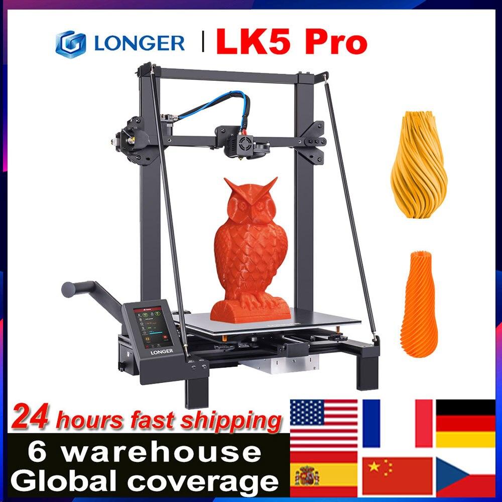 3D-принтер LONGER LK5 Pro FDM, 90%, предварительно собранный, 300x300x400 мм, большой размер печати с полноцветным сенсорным экраном 4,3 дюйма, TMC2208