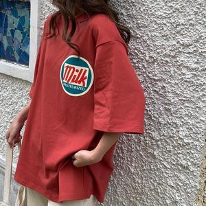 T-shirts Women Harajuku Milk Printed Kawaii BF Couple Clothes Unisex Loose Long Summer Tee Top Womens Tshirt Korean Style Trendy