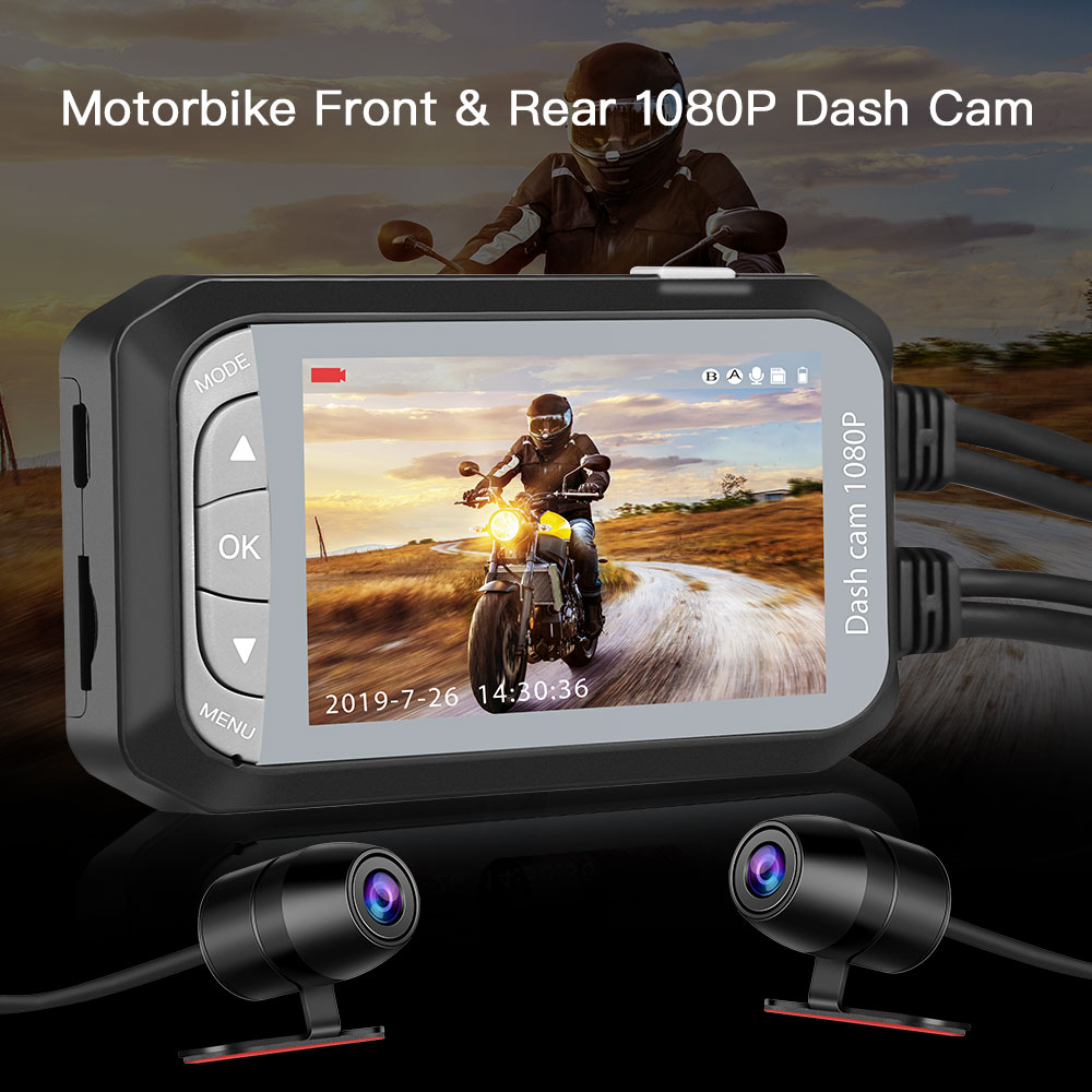 Waterproof Dual Motorbike Action Camera Recorder 2