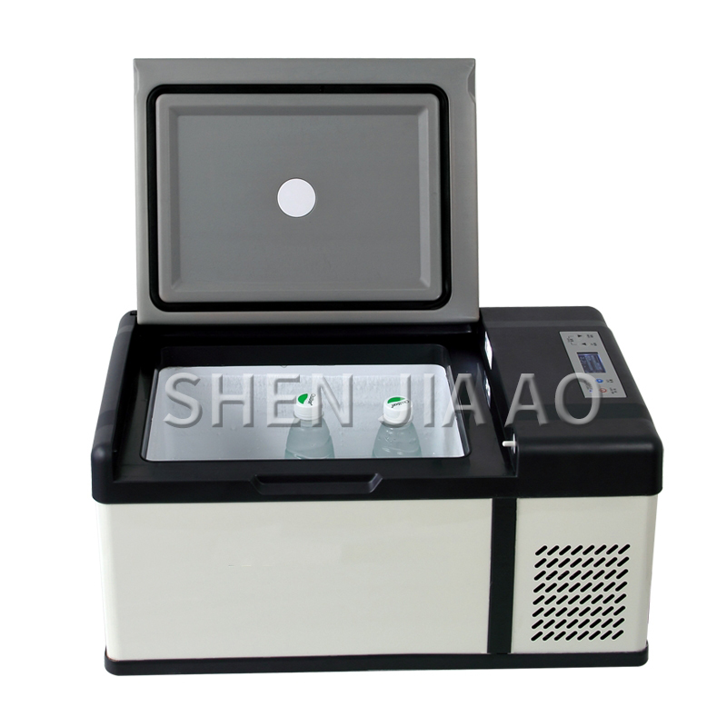 15L Compressor DC Car Refrigerator Fast Icing Freezing Small Refrigerator 12V/24V/220v Truck/car/home Use Mini  Portable Fridge