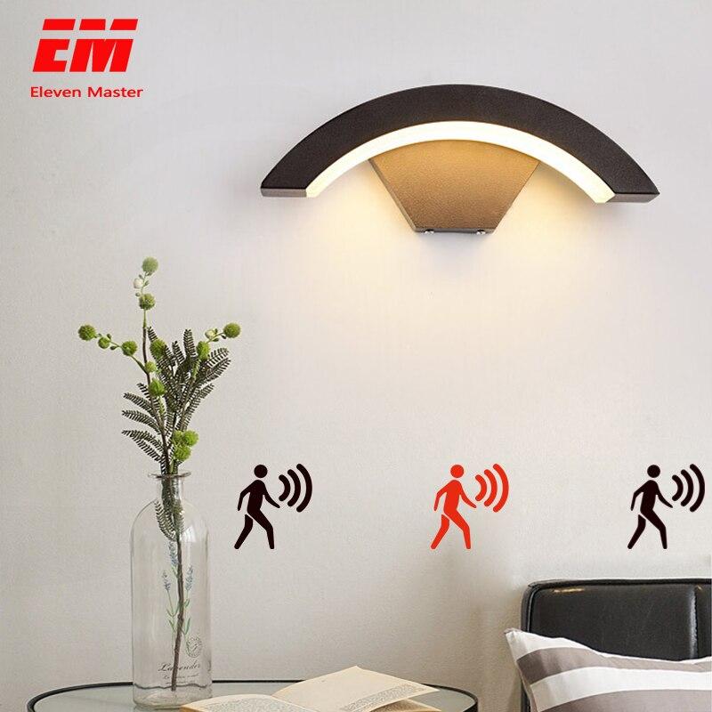Modern Led Wall Lamp Sensor Indoor Stair Light Fixture Bedside Loft Living Room Home Hallway Lampada 18W Wall Sconces ZBW0013