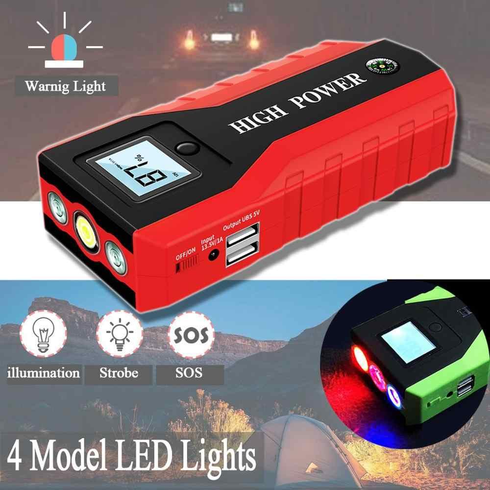 GKFLY High Power 20000mAh urządzenie do uruchamiania awaryjnego samochodu 1000A 12V urządzenie zapłonowe Power Bank ładowarka samochodowa do wzmacniacz do akumulatora samochodowego Buster LED
