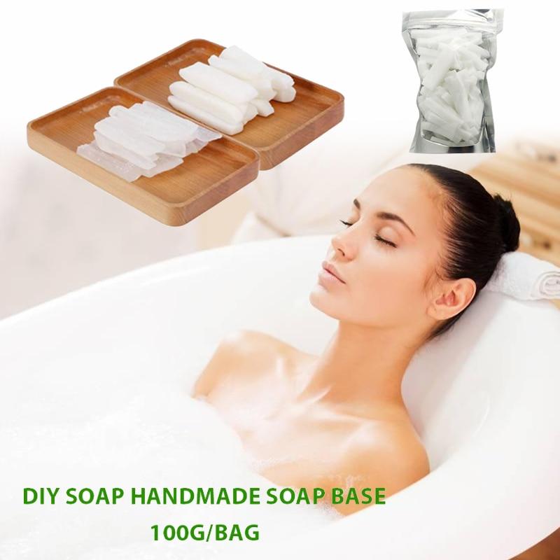 Raw Materials Gift Bath Transparent Clear 100g Soap Making Base Hand Making Soap Handmade Soap Base Saft Health Care