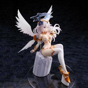 Image 4 - 22cm Hyperdimension Neptunia Choujigen Game Neptune Noire Black Heart White Wings Sitting Ver. PVC Action Figure Collection Toys