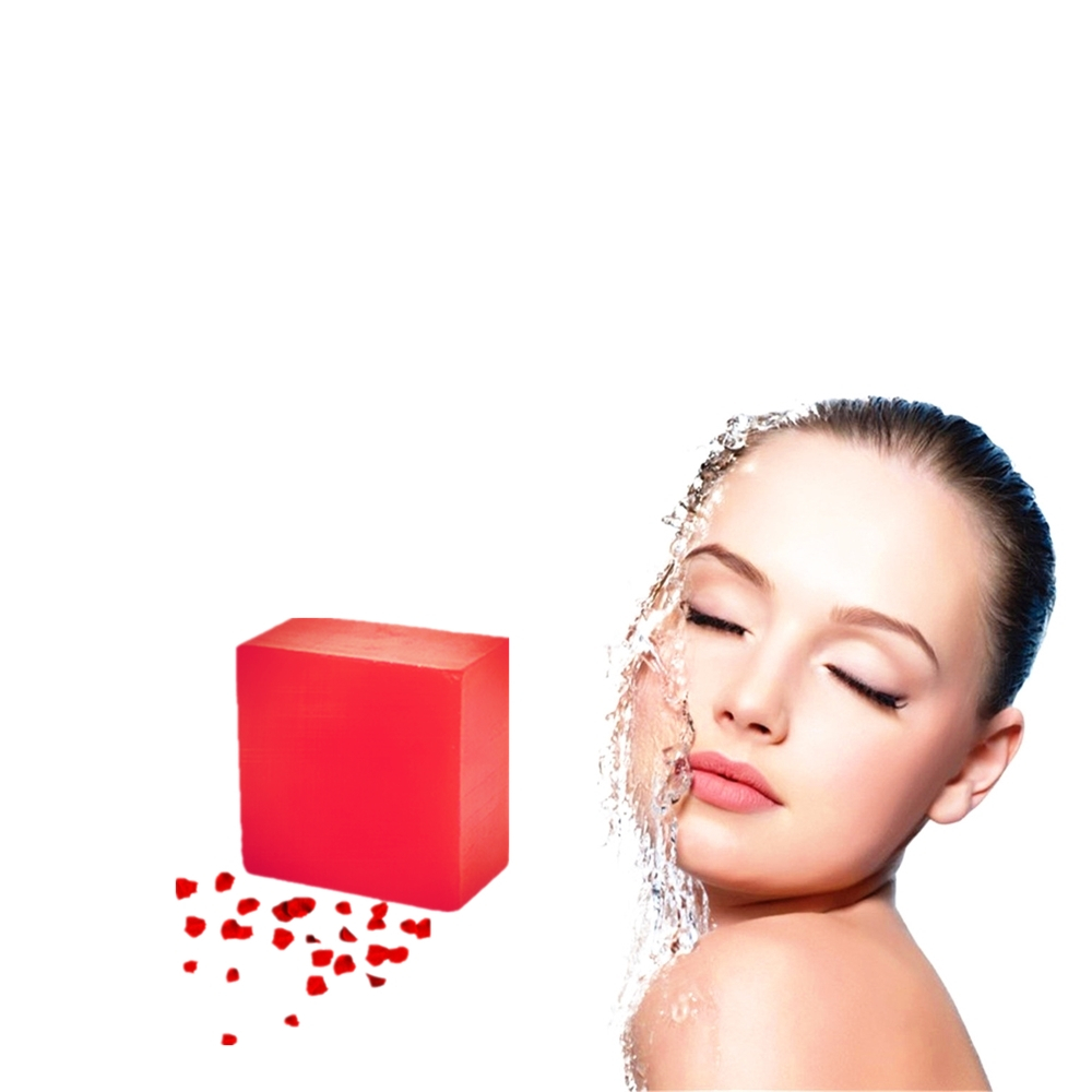 100g Removal Pimple Pores Acne Treatment Rose Aroma Soap Cleaner Flower Essence Face Care Wash Basis Anti Wrinkle Beauty Soap