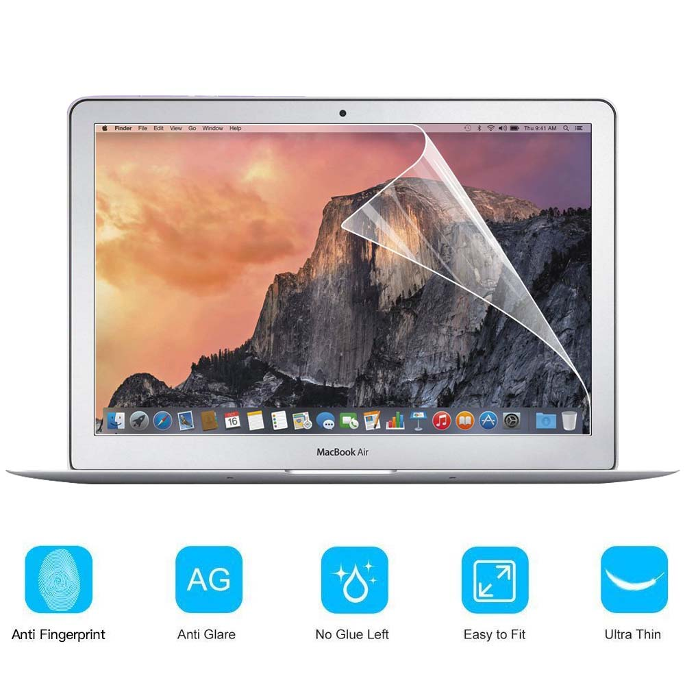 KK&LL For Apple Macbook Air 13 Inch (A1369 A1466) White A1342 Crystal Clear Lcd Guard Film Screen Film Protector