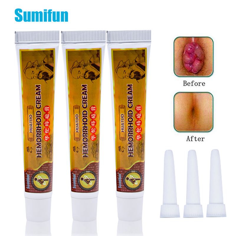 3Pcs Mixed Hemorrhoids Ointment Crack Anal Powerful Chinese Cream Internal External Anal Fissure Herbal Medical Plaster D2434