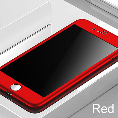 360 Full Cover Phone Case For iPhone X 8 6 6s 7 Plus 5 5s SE PC Protective For iPhone 7 8 Plus 11 Pro Max Case Cover With Glass