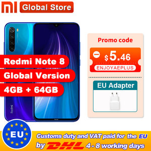 "Global Version Xiaomi Redmi Note 8 4GB 64GB Snapdragon 665 Octa Core Smartphone 6.3"" 48MP Quad Rear Camera(China)"