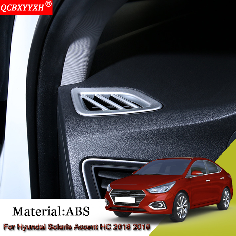 ABS Car Dashboard Frame Air Conditioning Outlet Cover Sequins Stickers Car Accessories For Hyundai Solaris Accent HC 2018 2019