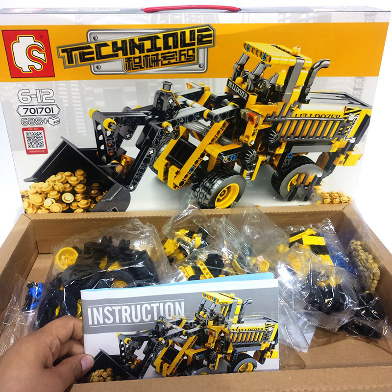 688pcs-Technic-Series-Bulldozer-Truck-Building-Blocks-City-Construction-Engineering-Figures-Enlighten-Bricks-Kids-Birthday-Toys (5)