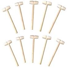 10 peças mini martelo de madeira bolas brinquedo pounder substituição de madeira maletes bebê