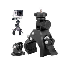 For Gopro Mounting Motorcycle Bike Handlebar Camera Holder Clip multi-angle rotation Clamp Clip Go Pro Cycling Accessories(China)