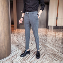 High Quality Business Casual Formal Pants Men Clothing 2021 Spring New All Match Korean Slim Fit Office Straight Trousers 36-29