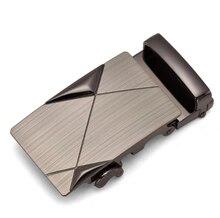 Автоматическая пряжка сплава уникальные мужские Бляха ремня Пряжки для 4 см храповика для бизнес кожаный ремень аксессуары мужская мода твердые
