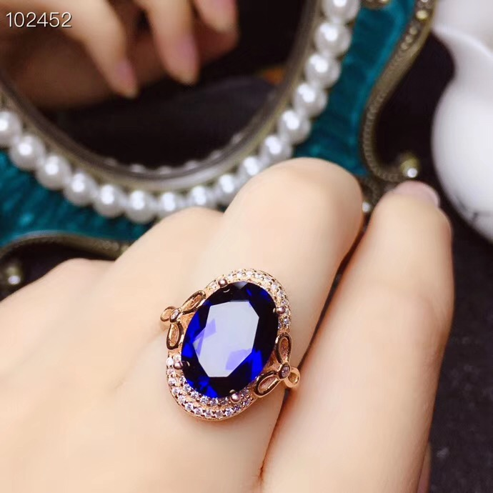 KJJEAXCMY boutique di gioielli in argento sterling 925 intarsiato anello di zaffiro Naturale ciondolo donna vestito supportano il rilevamento squisita - 3