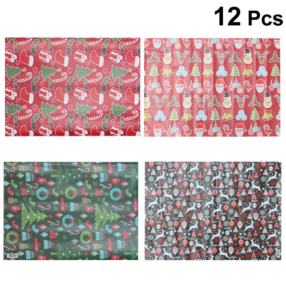 12 шт подарочная оберточная бумага праздничный декоративный цветок Крафтовая для
