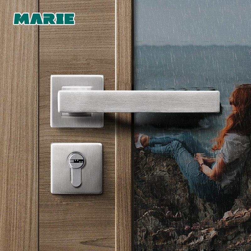 New Stainless Steel 304 Lever Door Handle,interior Door Lever Handles,square Tube Entry Lever Handle