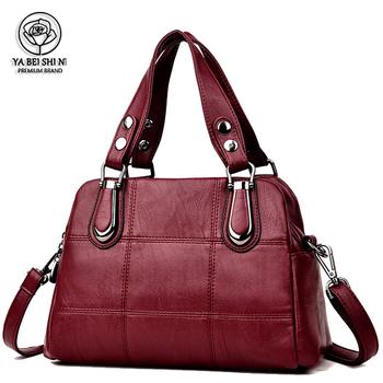 Torebki damskie skórzane torebki damskie luksusowe torebki damskie torebki projektant torebki damskie torby na ramię marki torba Sac Main Femme tanie i dobre opinie YABEISHINI Na co dzień torebka Skrzynki Torebki i torby crossbody CN (pochodzenie) Prawdziwej skóry Kożuch zipper SOFT
