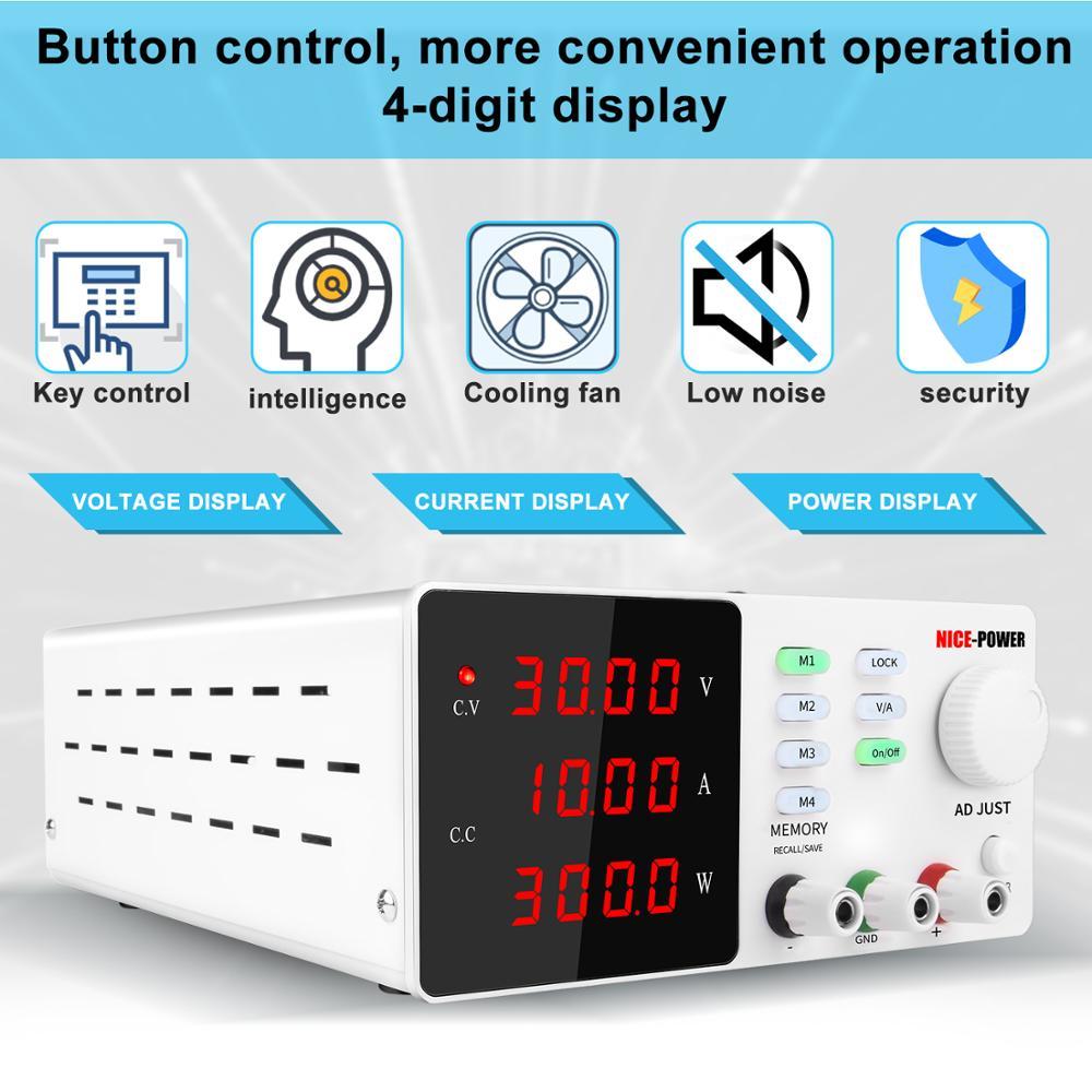 Programmable laboratory power feeding 30v 10a Lab Power supply unit for pc voltage regulator Precise adjustment Source 120V 3A-3