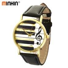 MINHIN Women Fashion Quartz Watches Classic Leather Young Girls Gold Plated Quar