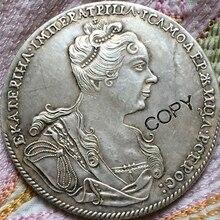 1727 монет России 1 рубль копия Копер производство старых монет