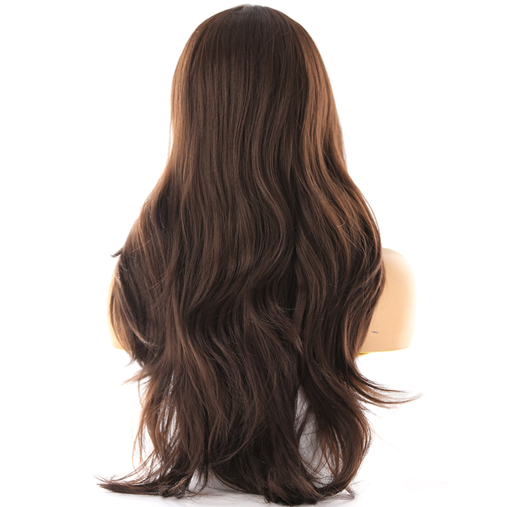 Image 3 - Medium Brown Synthetic Hair Lace Wigs For Women X TRESS Blonde 613 Long Wavy Lace Front Wigs With Natural Hairline Middle Part-in Synthetic Lace Wigs from Hair Extensions & Wigs