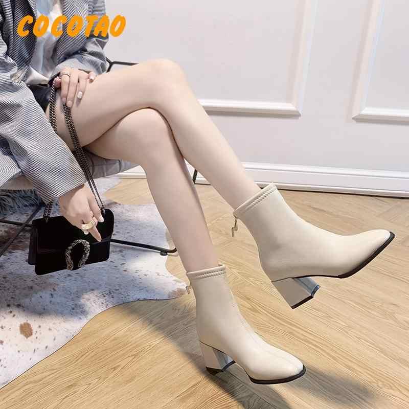 Yıldız ve rahat öğrenci Qiu Dong Joker beyaz çizmeler İngiltere kalın ceket sıcak tutmak için çizmeler topuklu çizmeler sonbahar