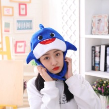 Halloween Funny Fish Hat Unisex Plush Party Hats Cosplay Costume Cap for Adult Children Supplies Gift