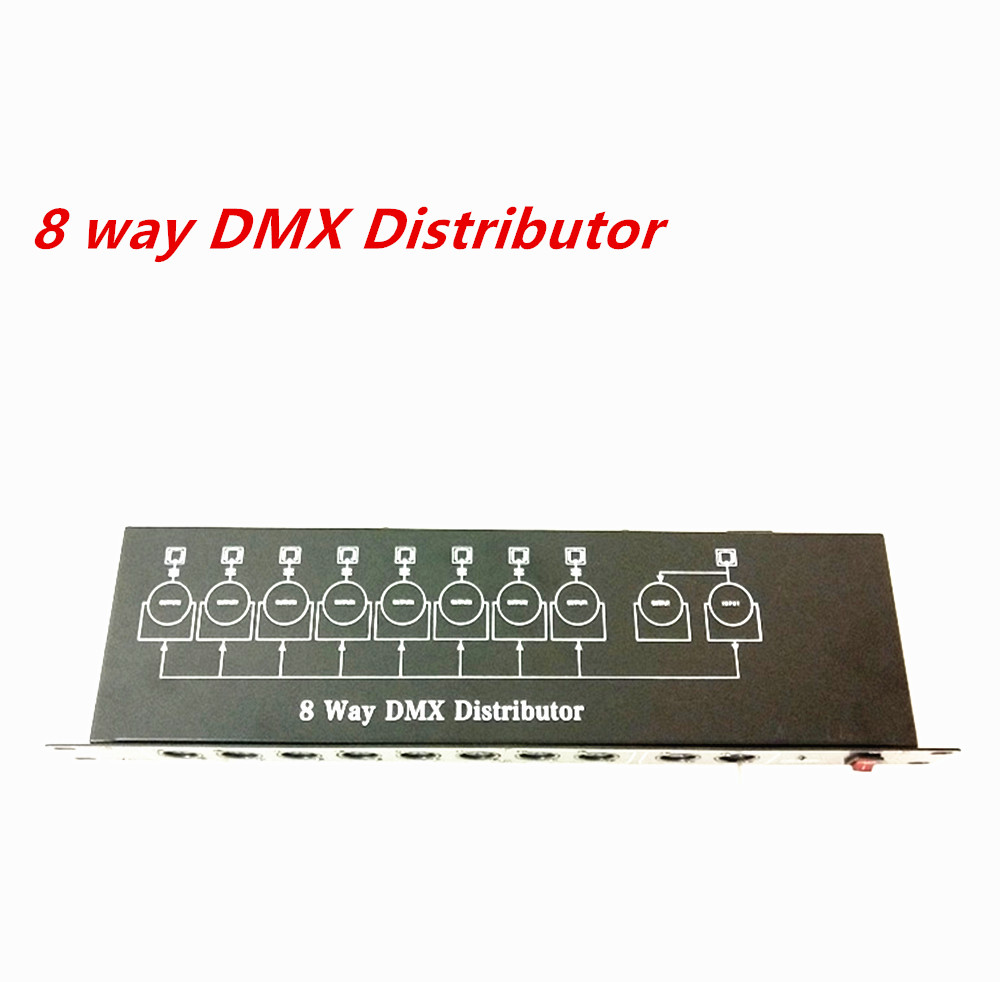 NEW Light Of Stage DJ DMX512 Splitter Light Signal Splitter Amplifiers 8 Way DMX Distributor For Stage Equipment