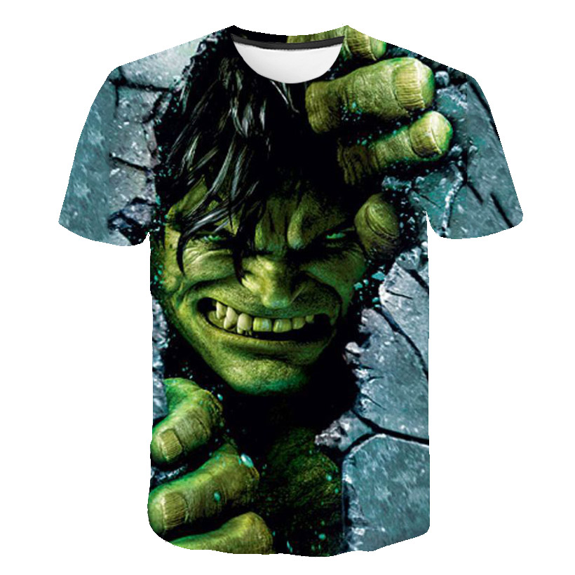 Kids Boys Hero Hulk T-shirts 3d Print Clothes Children Summer Short Sleeve Tshirts Clothing Girls White Casual Tee Top Clothing