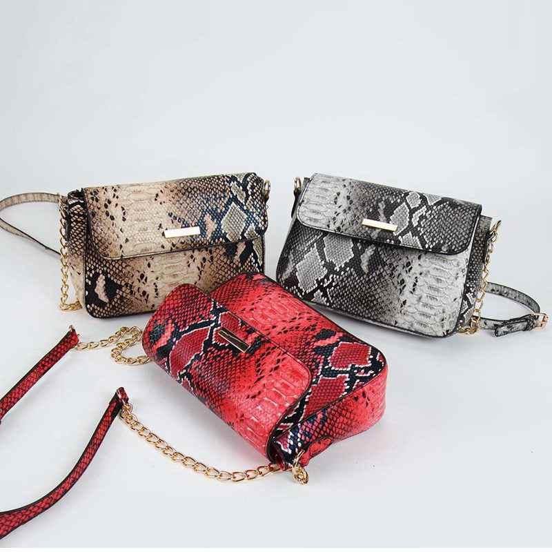 FUNMARDI Marke Schlange Designer Frauen Tasche Kette Riemen Schulter Taschen Kleine Umhängetaschen Für Frauen PU Leder Tasche Weibliche WLHB1790