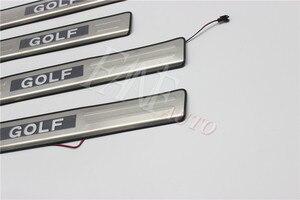 Image 5 - נירוסטה Led דלת אדן שפשוף צלחת משמר אדני מגן Trim עבור פולקסווגן פולקסווגן גולף 6 MK6 גולף R GTI 2008 2012