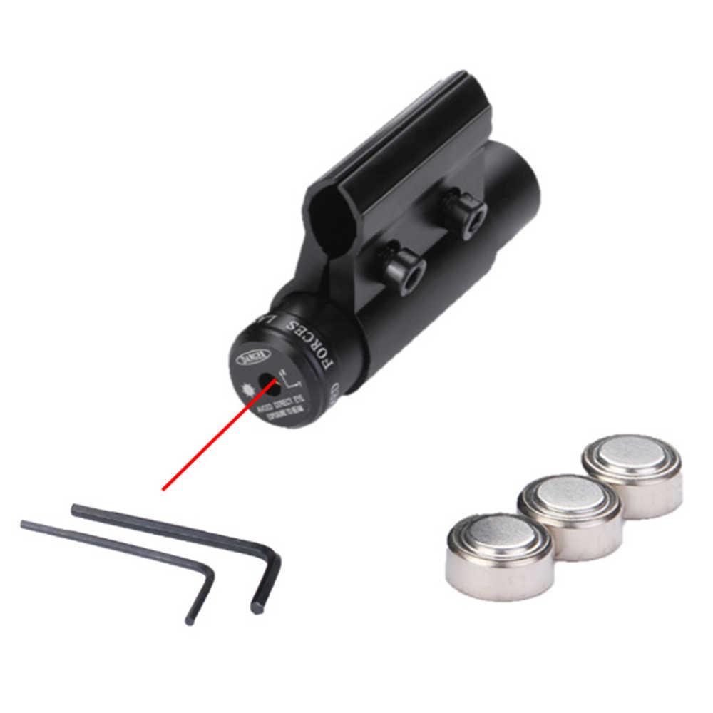 Variedad táctica Mini punto rojo mira láser conjunto de montaje Picatinny para pistola Rifle pistola tiro Airsoft Rifle alcance caza