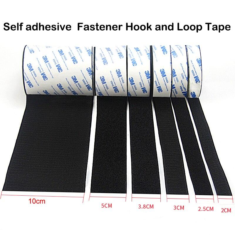 1 meter/paires forte auto-adhésif crochet et boucle attache bande nylon autocollant velcros adhésif avec colle pour bricolage 20/25/30/38/50mm
