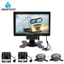 цена на Smartour 7 Inch Wired Car monitor TFT LCD RearView Camera HD rear Camera Monitor For Truck Bus Parking Rear view System