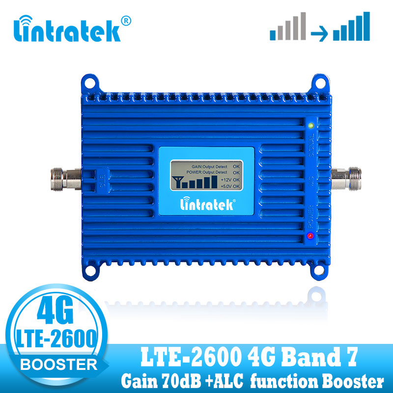 Lcd display 1000 square coverage 4G LTE Signal Amplifier Gain 70dB 2600Mhz Booster Repeater