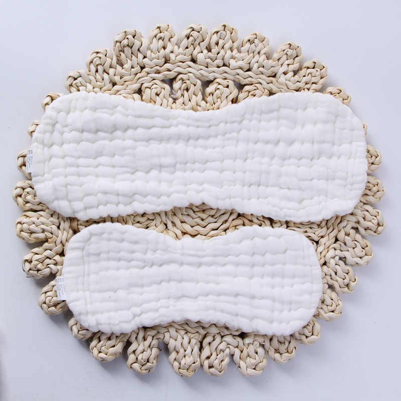 10/12 ชั้นผ้าฝ้าย Reusable ผ้าอ้อมเด็กทารกล้างทำความสะอาดได้แทรก Boosters Nappies ผ้าสำหรับทารกแรกเกิดเด็กวัยหัดเดิน 36*15/ 47*16 ซม.