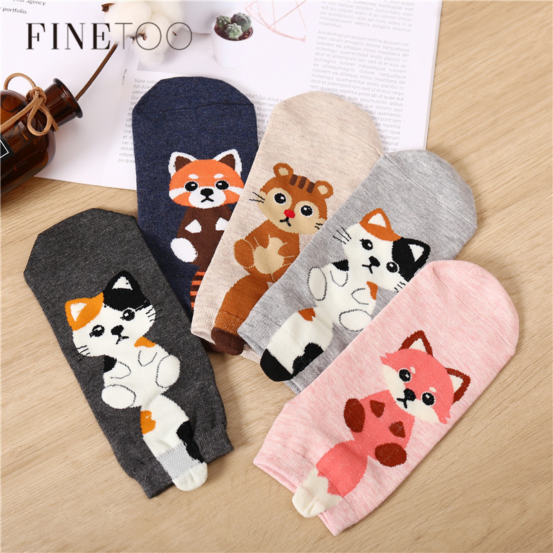 3Pairs/set High Quality Women's Sock Lovely 3D Animal Socks Autumn-Winter Funny Dog Socks Fashion Ladies Cotton Cartoon Sock New